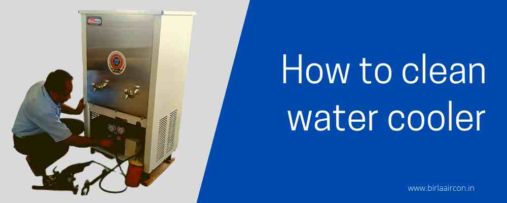 How to clean a water cooler?