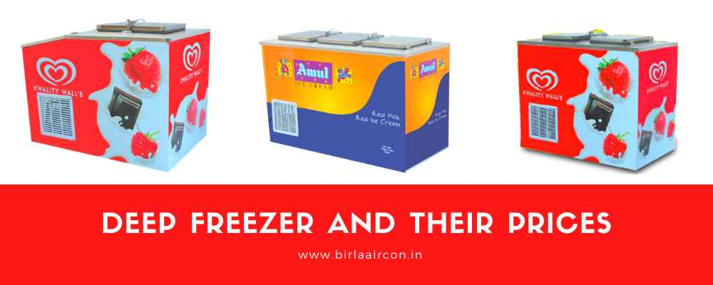 Deep freezer and their prices